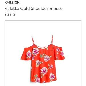 Kaileigh Valette Cold Shoulder Blouse NWT Small